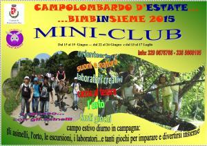 Locandina Campi estivi MIni Club