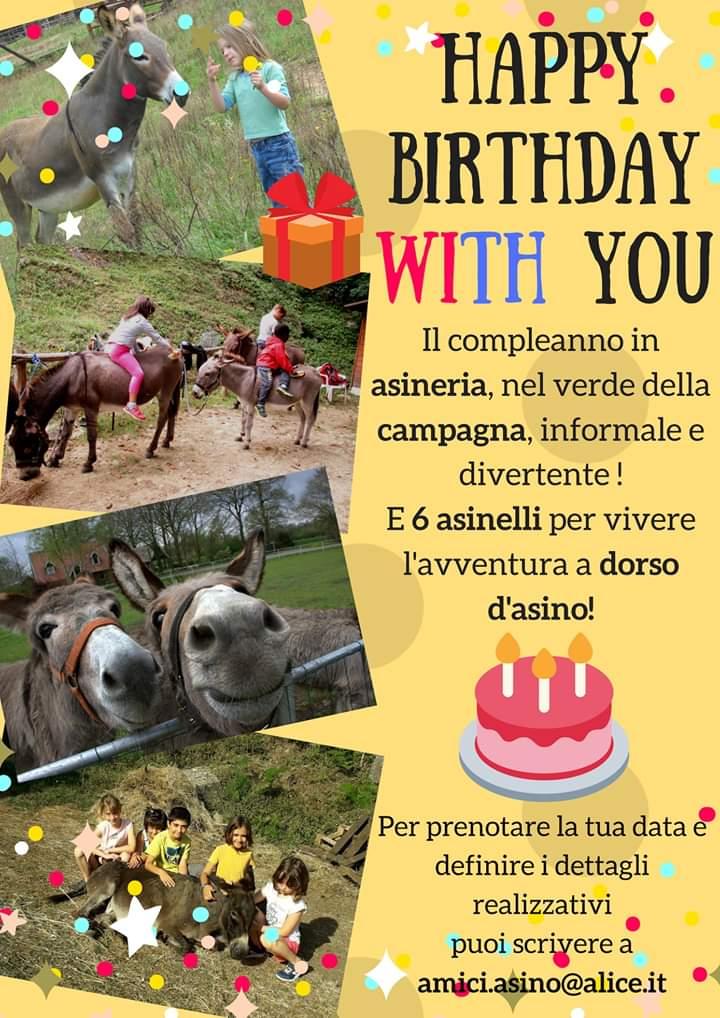 compleanno Gli Amici dell asino